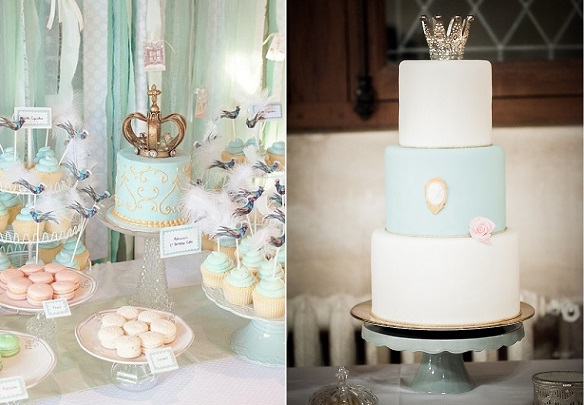 crown cake toppers baby shower cakes via 100Layer Cake left, via French Wedding Style right