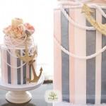 nautical wedding cake, image by Green Tree Photography