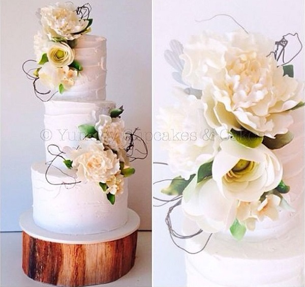 rustic woodland wedding cake by Yummy Cakes & Cupcakes