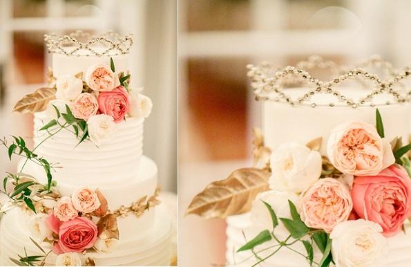 tiara crown cake topper, Cake Chicago via Brides dot com, Kina Wicks Photography