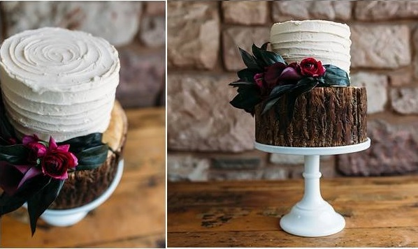 woodgrain wedding cake by Suzanne Esper, Gail Kelly Design & Photography