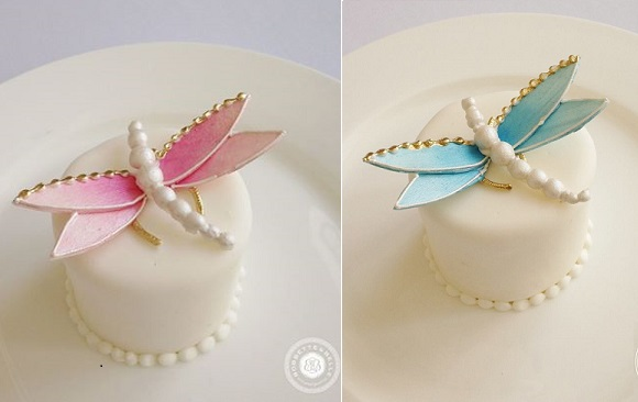 dragonfly cakes by Bobette & Belle