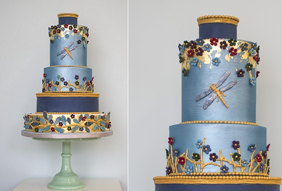 dragonfly wedding cake Azure Lake by Rosalind Miller