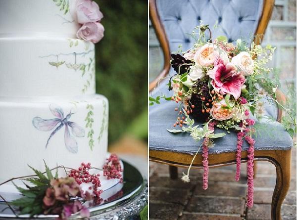 dragonfly wedding cake by Cakes by Krishanthi, image by Weddings by Nicola & Glen via Style Me Pretty