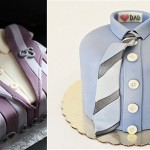 fathers day cakes cricket jacket by Juliet Stallwood Cakes and Biscuits left and via Parent Society right