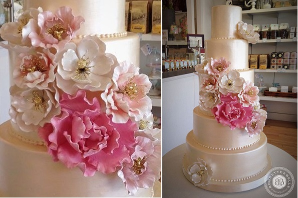 jewelled sugar flowers by Bobbette & Belle