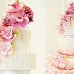 watercolour wedding cake image via Wedluxe