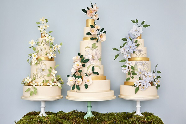 wedding cakes for the bohemian bride, The Botanical Collection from Rosalind Miller Cake Design