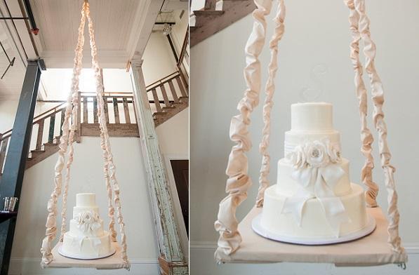 Suspended Wedding Cake via Style Unveiled