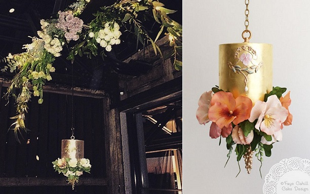 suspended cakes by Faye Cahill (design left with Flower Seeker )
