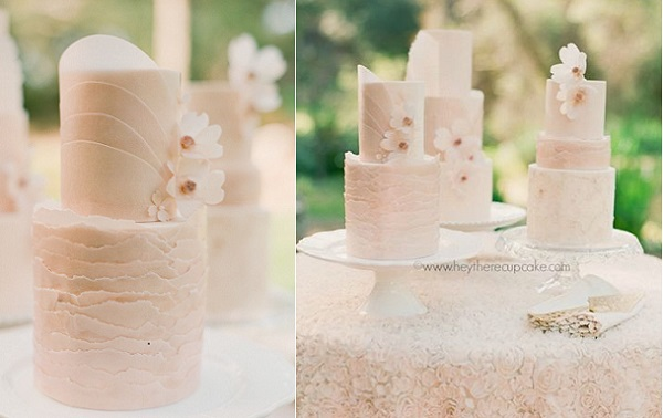wafer paper frills and cake art by Hey There Cupcake, Carmen Santorelli Photography via Style Me Pretty