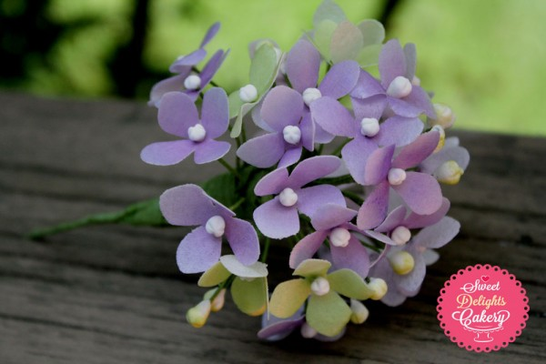 wafer paper hydrangea tutorial by Sweet Delights Cakery