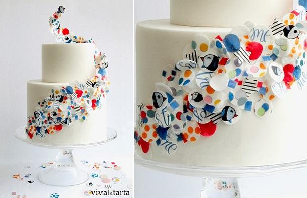 wafer paper ruffles by Viva La Tarta