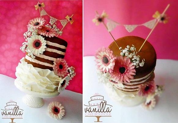 garden party wedding cake by Vanilla Cake Boutique