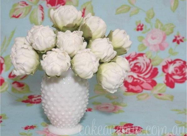 gumpaste peonies textured peonies by Cake Avenue