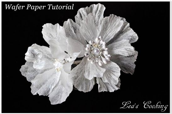 jewelled wafer paper flower by Lea's Cooking