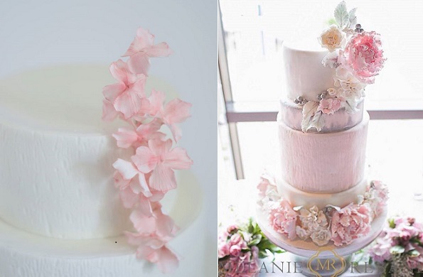 rustic woodgrain texture in pastels by T Bakes left, Sophie Bifield right with Melanie Re Photography