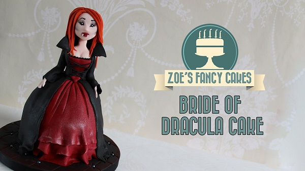 halloween cake tutorial Bride of Dracula doll cake