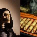 halloween cake tutorials Grim Reaper cake by Made With Love By Me blog, zombie fingers by Make Fabulous Cakes