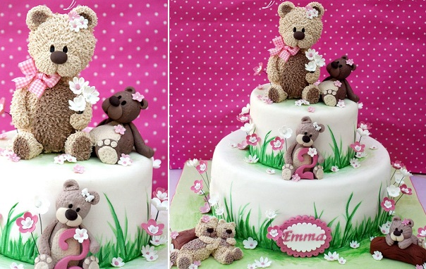vintage teddy bear cake by Alessandra Frisoni Cake Studio