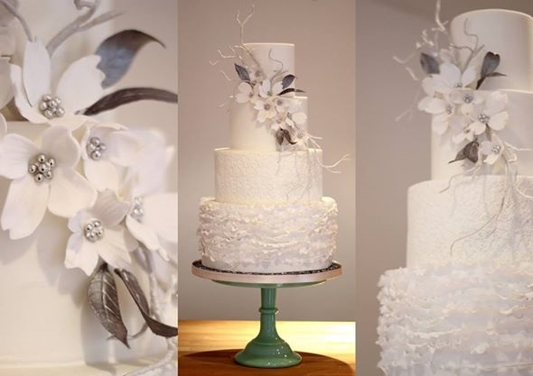 winter woodland wedding cake by Sweet As Sugar Cakes