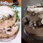winter woodland wedding cake by Amy Swann Cakes, David Stubbs Photography