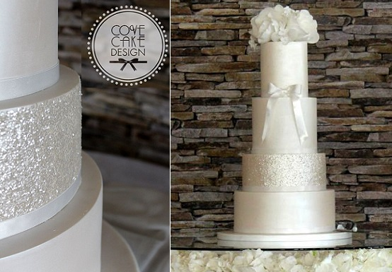 New Year's Eve wedding cake by Cove Cake Design