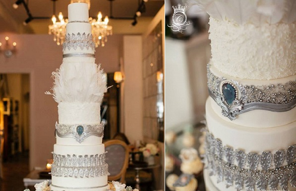 jewelled winter wedding cake by Connie Cupcake Luxury Cakes, Joee Wong Photographer