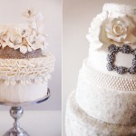 jewelled winter wedding cakes by Connie Cupcake, The White Cakery