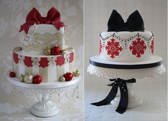 christmas cakes by Cotton & Crumbs