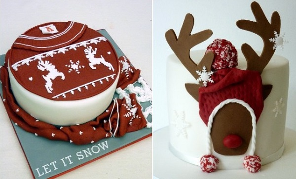 christmas cakes by The Chocolate Strawberry