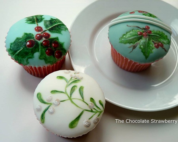 christmas cupcakes by The Chocolate Strawberry