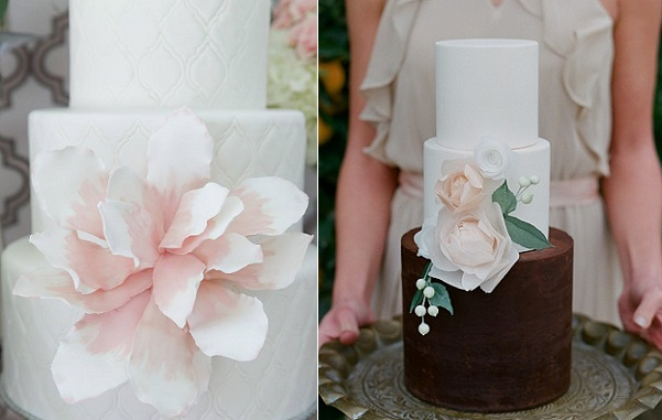 watercolour flowers by Wow Factor Cakes, Critsey Rowe Photography left, Hey There Cupcake via SMP Carmen Santorelli Phot