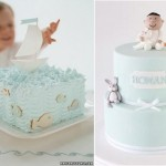 Birthday cakes for little boys from Martha Stewart left and Sharon Wee right