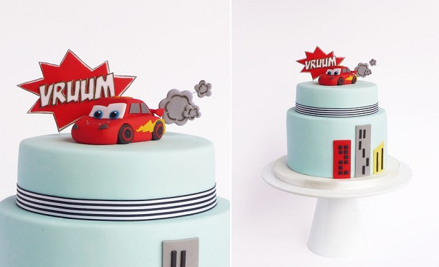 Car cake for little boy's birthday by Peace of Cake, Portugal