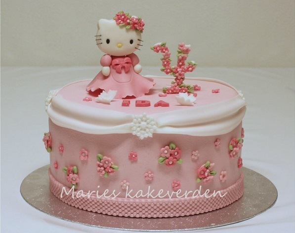 Floral number cake topper by Marie's Kakeverden