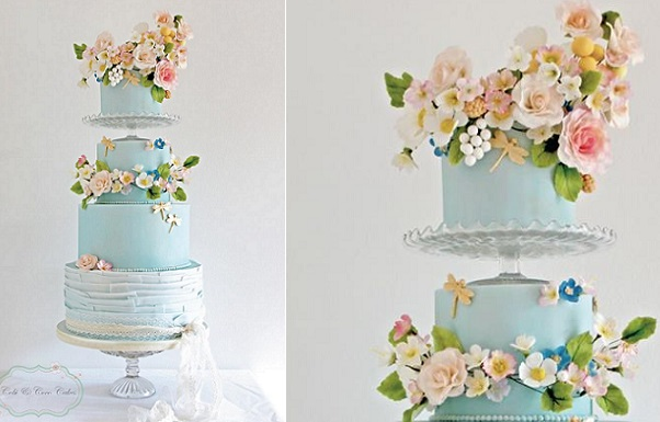Wildflower Wedding Cake by Cobi and Coco Cakes