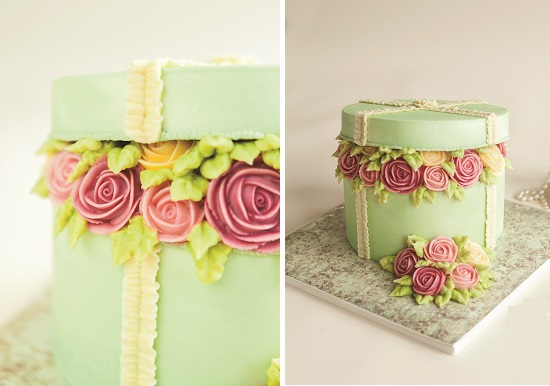 Buttercream Hatbox Cake tutorial by Valeri Valeriano and Christina Ong