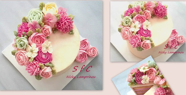 buttercream flowers by Sugar Flower Creations Nicky Lamprinou