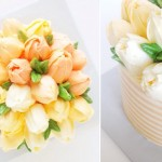 buttercream tulips cake by Eat Cake Be Merry