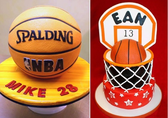 Basketball cakes by Eat Cake Be Merry left, Val's Custom Cakes ,right