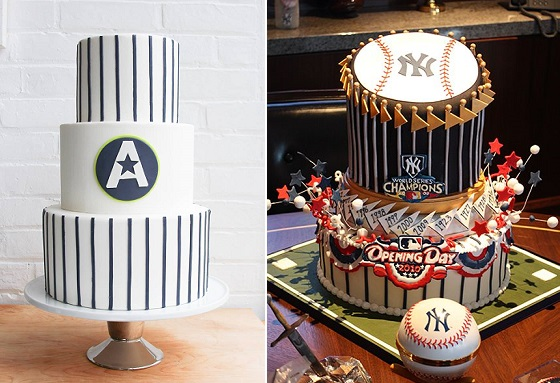 baseball cakes by Erica O Brien left and Sweet Lisa's Exquisite Cakes, right