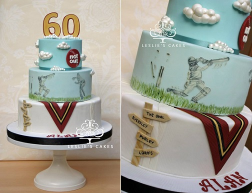 cricket cake by Leslie's Cakes