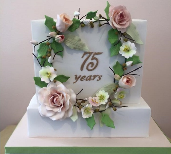 floral wreath birthday cake by The Flour Garden