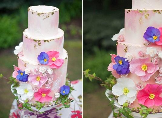 Bohemian wedding cake by Megan Joy Cakes, Sarah Hill Photography