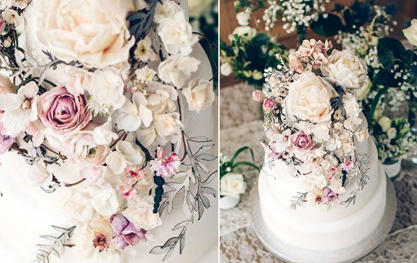 Boho wedding cake by Amy Swann Cakes, Paul Johnson Photography