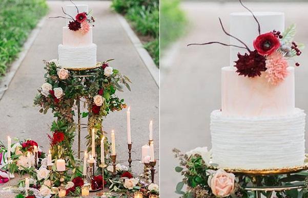 Boho wedding cake by Rooney Girl Bake Shop, Damaris Mia Photography