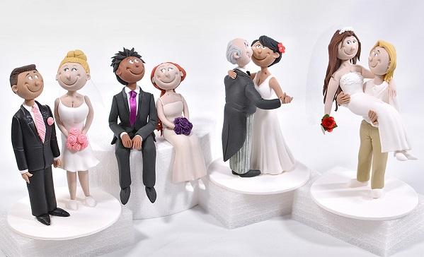 Bride and Groom cake topper tutorials from Yener's Way