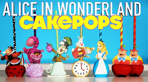 Alice in Wonderland cake pops tutorial by My Cupcake Addiction