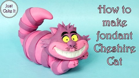 Cheshire cat cake topper tutorial